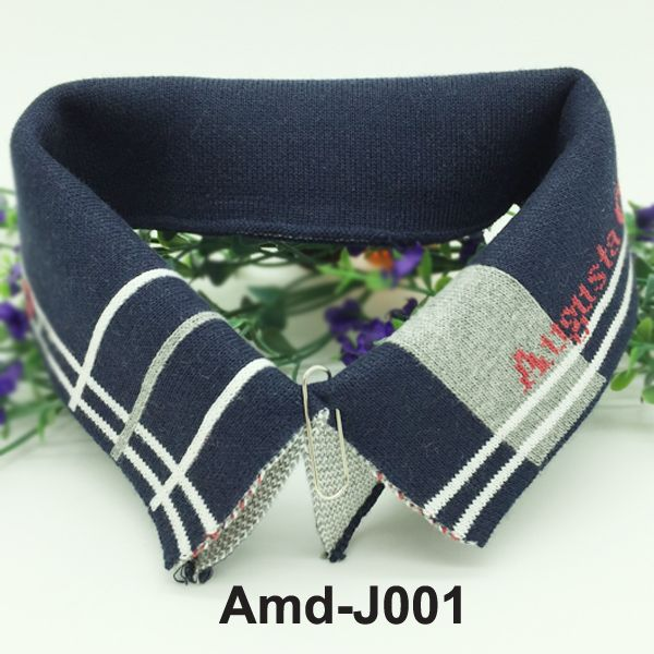 Jacquard rib knit trims flat collar and cuffs for making garments