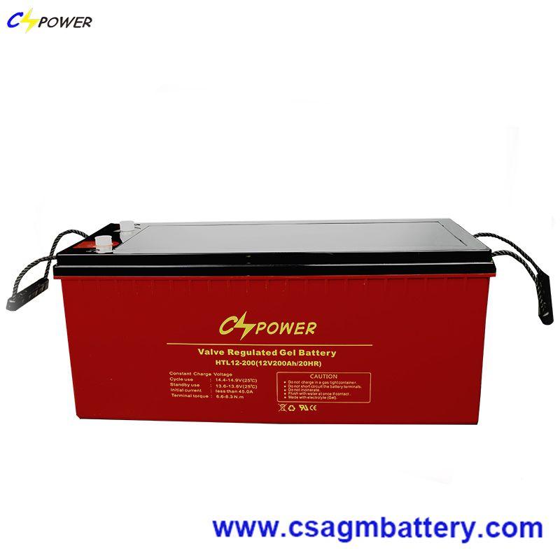 CSPOWER High temperature Deep Cycle Gel Battery 12V 200Ah