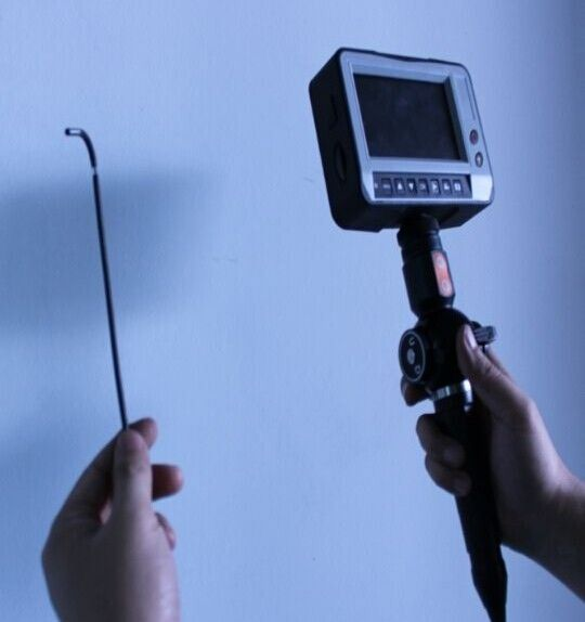 industrial inspection video borescope with CCTV camera for engine repair, welding inspection