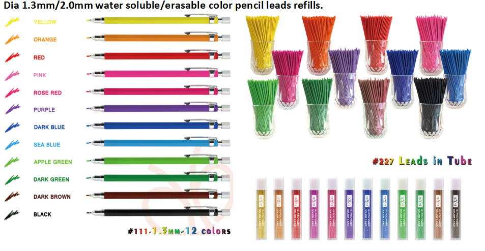 colored hi-polymer pencil lead