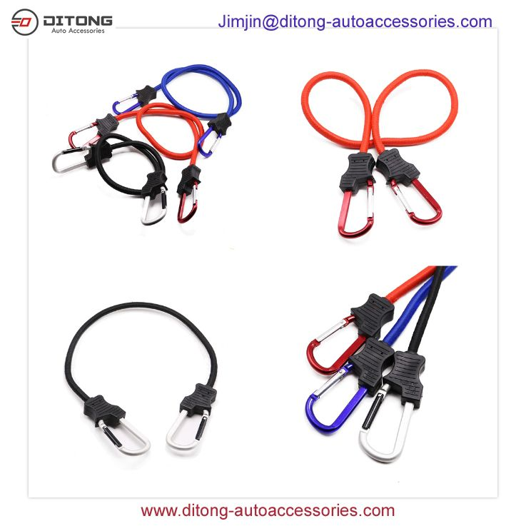 10mm Super Duty Carabiner Elastic Bungee Cord with hooks