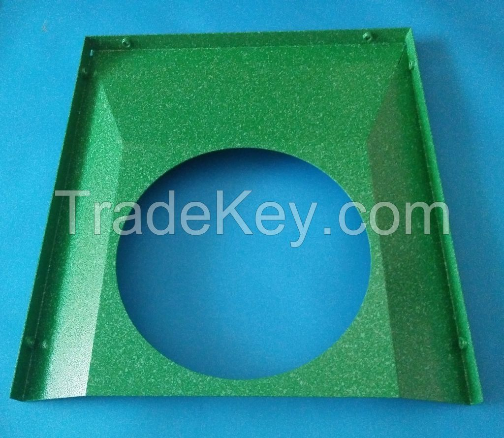 customized metal parts, powder coating, two-tone paint