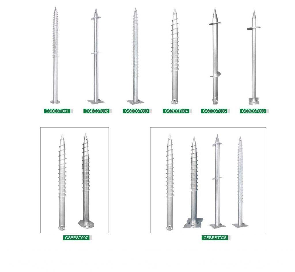 Photovoltaic bracket, solar bracket, Ground screws, PV stent accessaries
