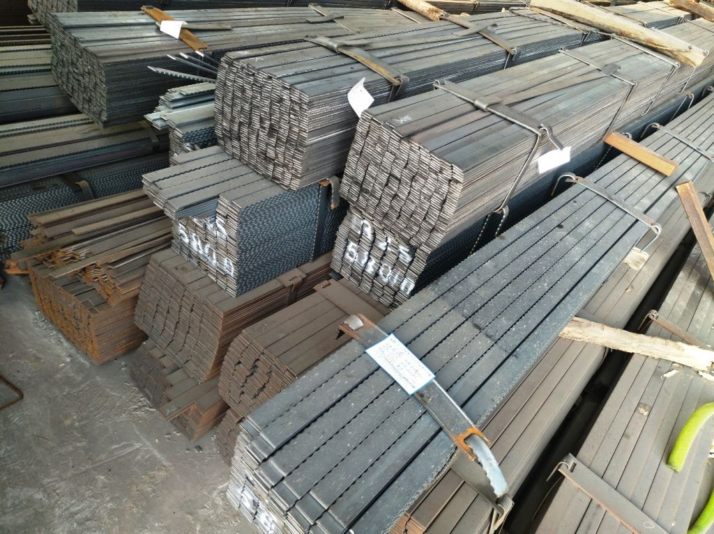 Steel Flat bars, serrated bars, Hot rolled steel bars, slitted steel sheets