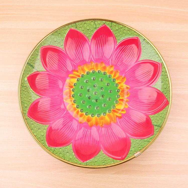 New Tray OEM Plastic Plate with Sunflower Design