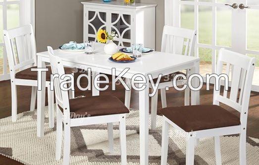 Malaysia Solid Rubberwood Vesta 1+4 Dining Set
