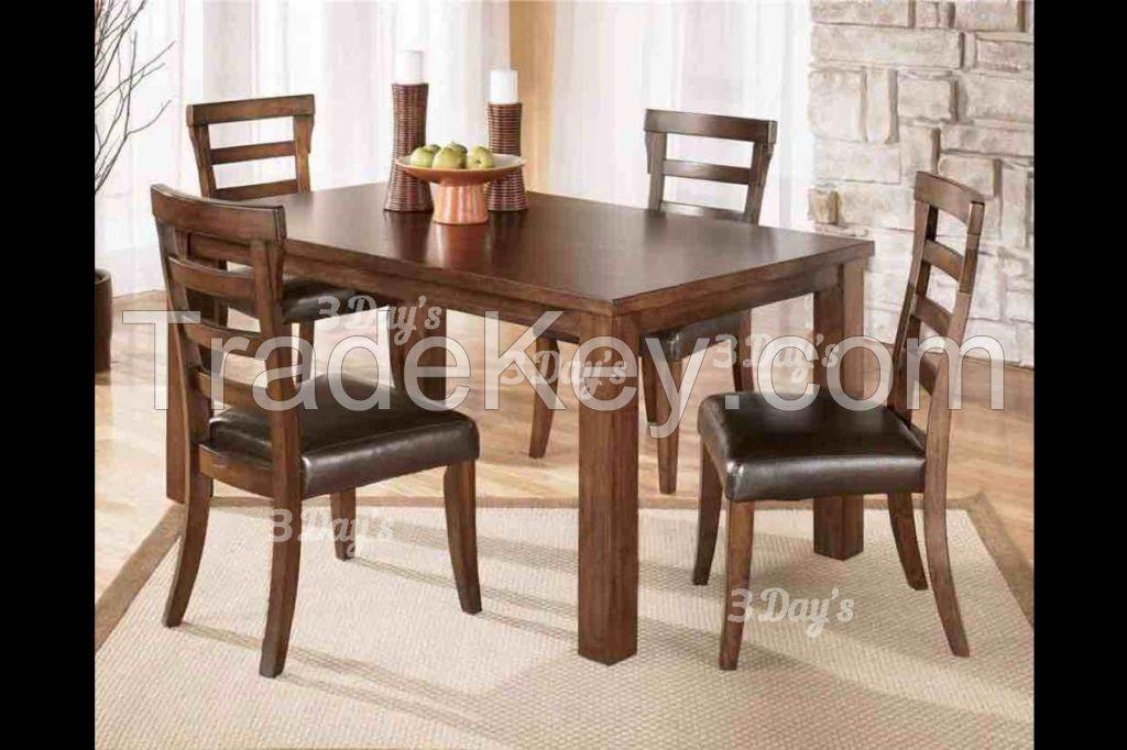 Malaysia Solid Rubberwood Ivary 1+6 Dining Set