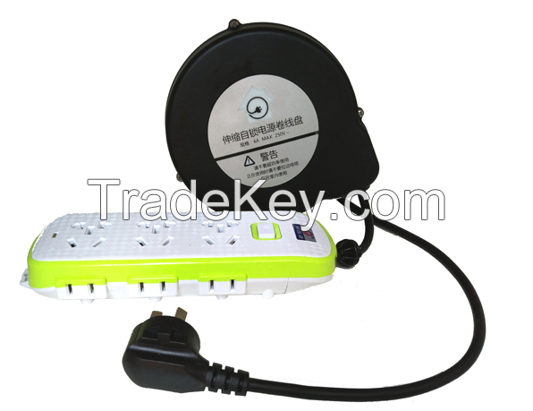 retractable cable reel cable management system tangle free retractor