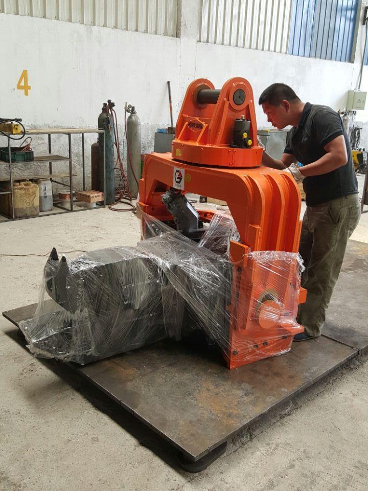 Korean quality manufacturer price excavator pile drive hammer