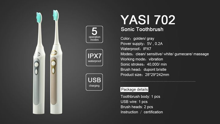 The cheapest sonictoothbrush with USB charge conveniently