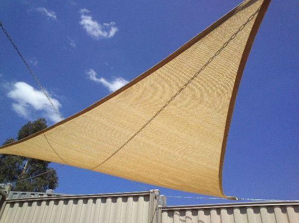 Patio Plastic Sun Shade Sail for Swimming Pool or Balcony