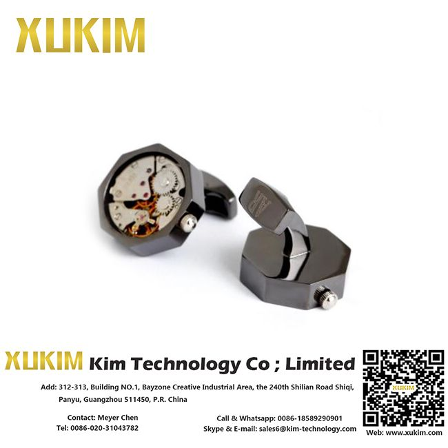 Xukim KCL092 Metal Cooper Machine Cufflinks