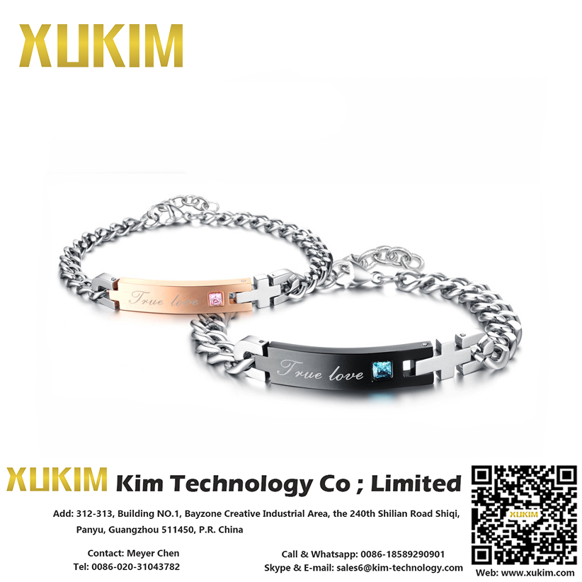 Xukim KN008 His Queen Her King Bracelets Rouges