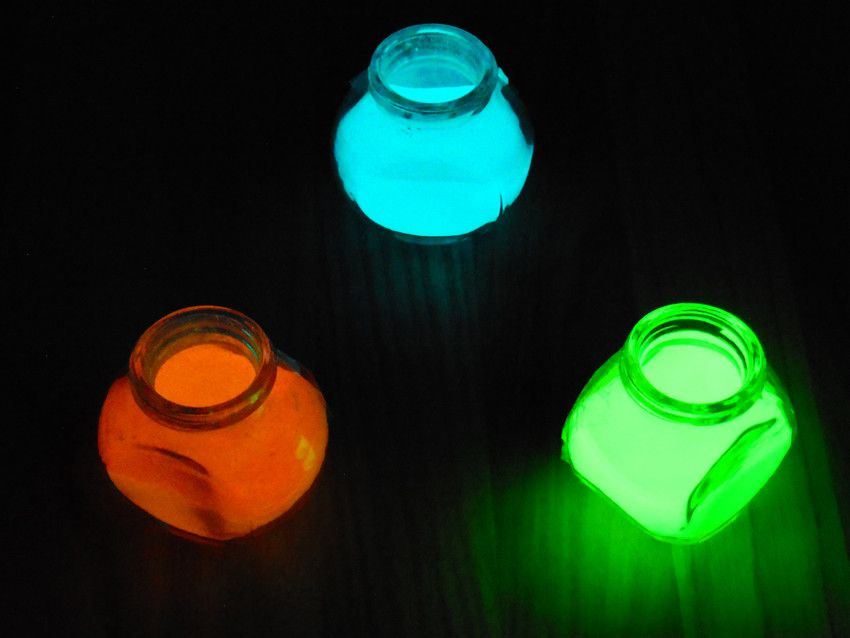 Green glow in the dark pigment powder ink painting glow powder