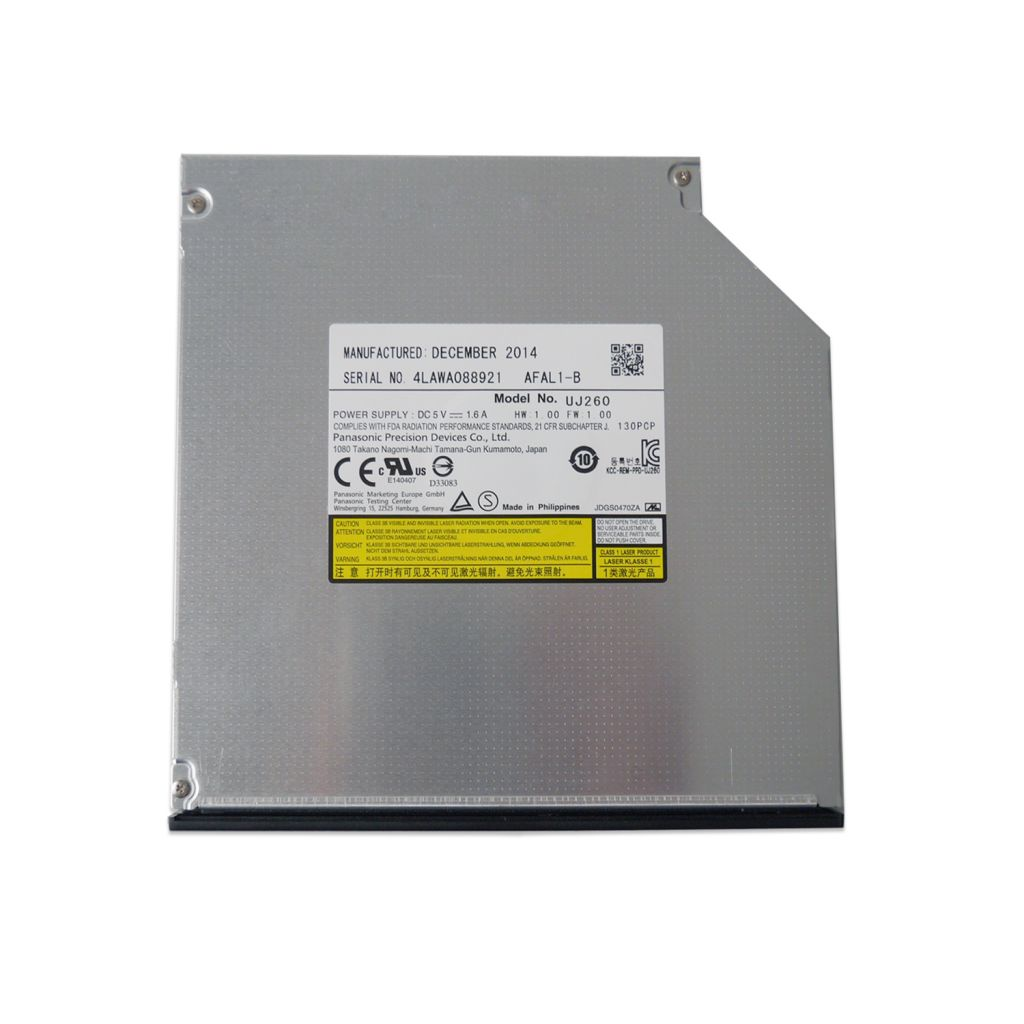 original Brand new UJ260 UJ-260 laptop Internal Blu-ray DVD burner SATA interface, 12.7mm height, tray load.Can write 100G, 1