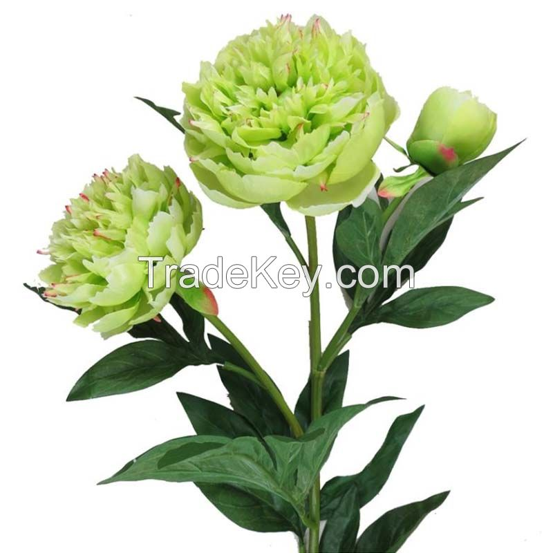 Artificial Flowers Peony In 3 Heads For Home/Hotel/Party
