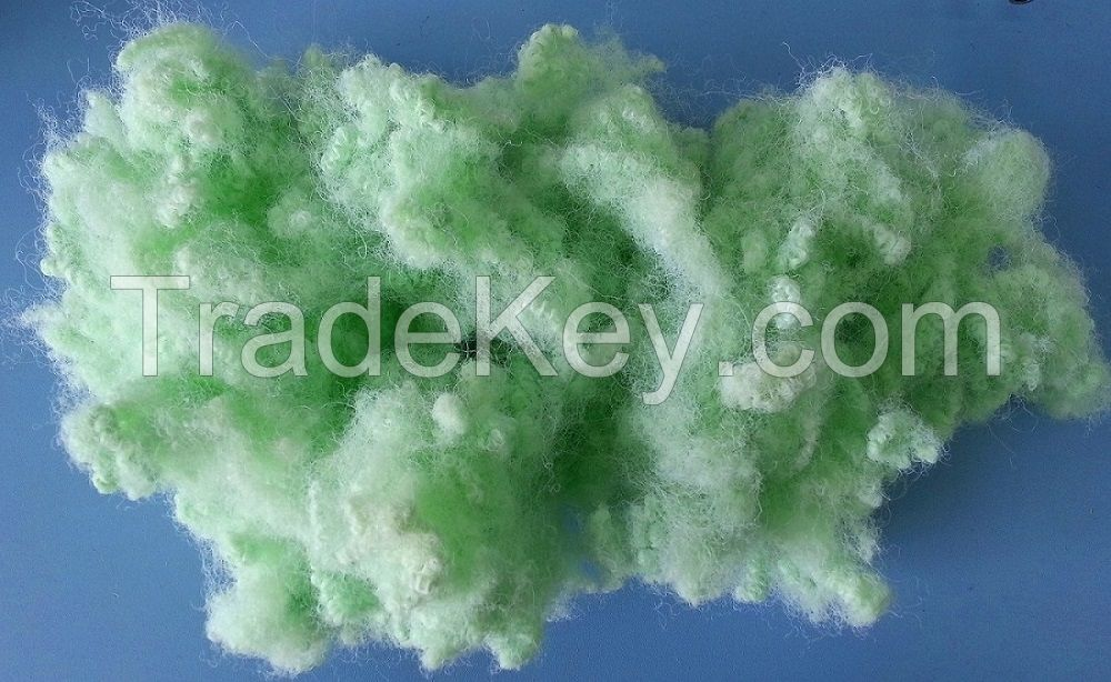 Recycled polyester staple fiber PSF (HCS, HC, solid) white, brown, green