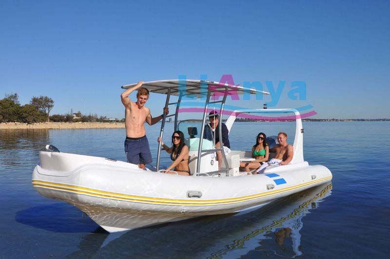 Liya luxury dinghy 660 fishing inflatable boats fiberglass
