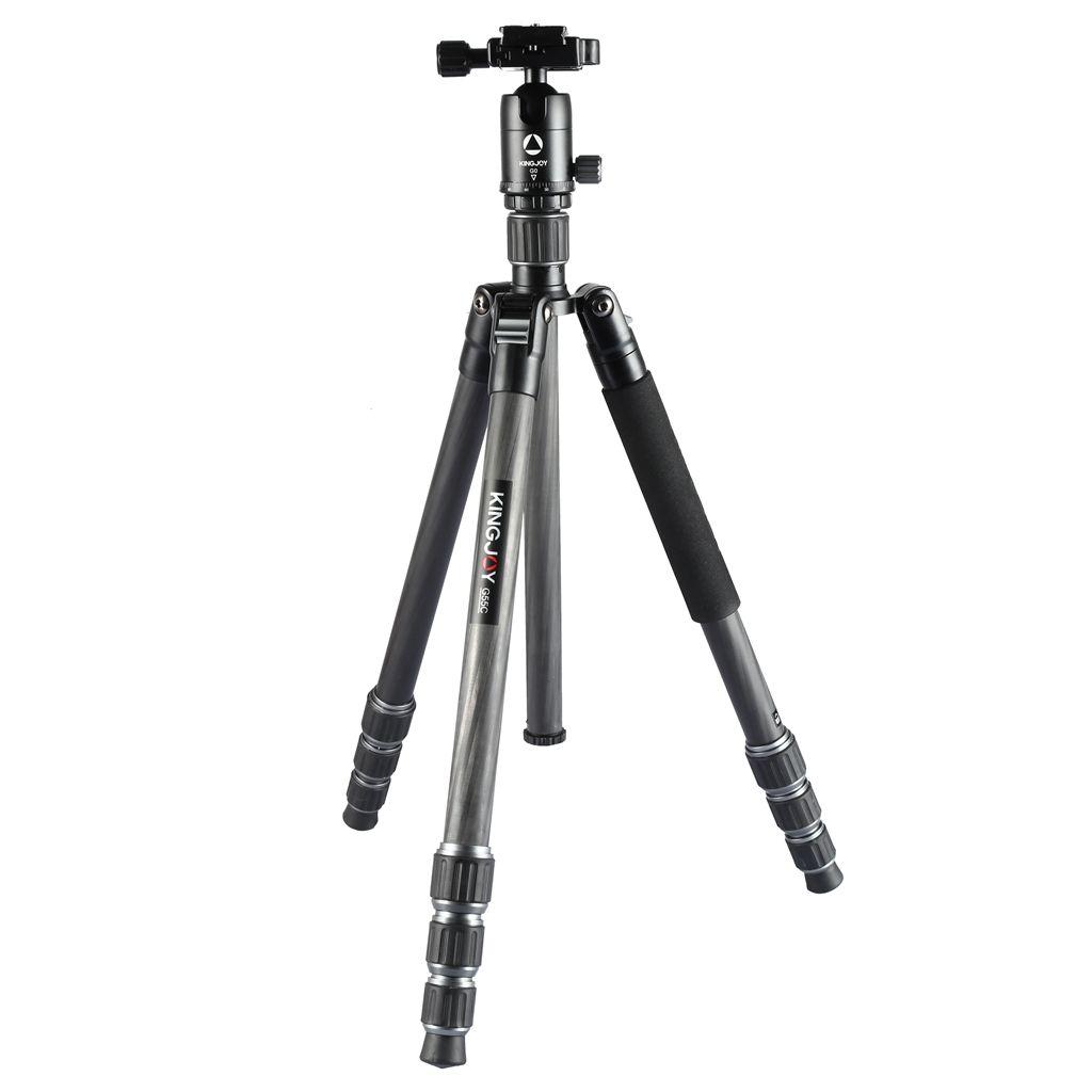 OEM Kingjoy 5 section carbon fiber professional camera photo tripod with bal head max load 12kg