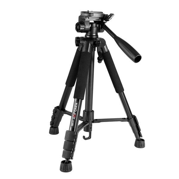Kingjoy new released cheap 4 section aluminum lightweight video camera tripod