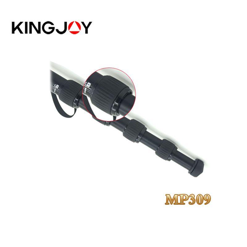 OEM Kingjoy 5 section flip lock lightweight aluminum camera monopod for travel