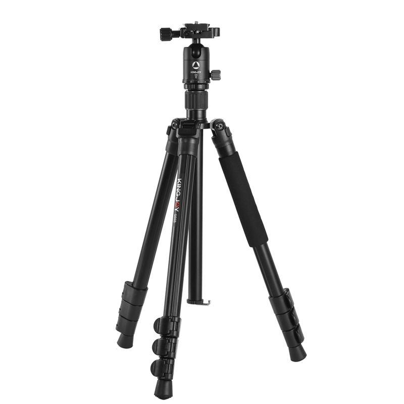 Private label Kingjoy new released 4 section flip lock aluminum professional camera tripod max load 12 kg