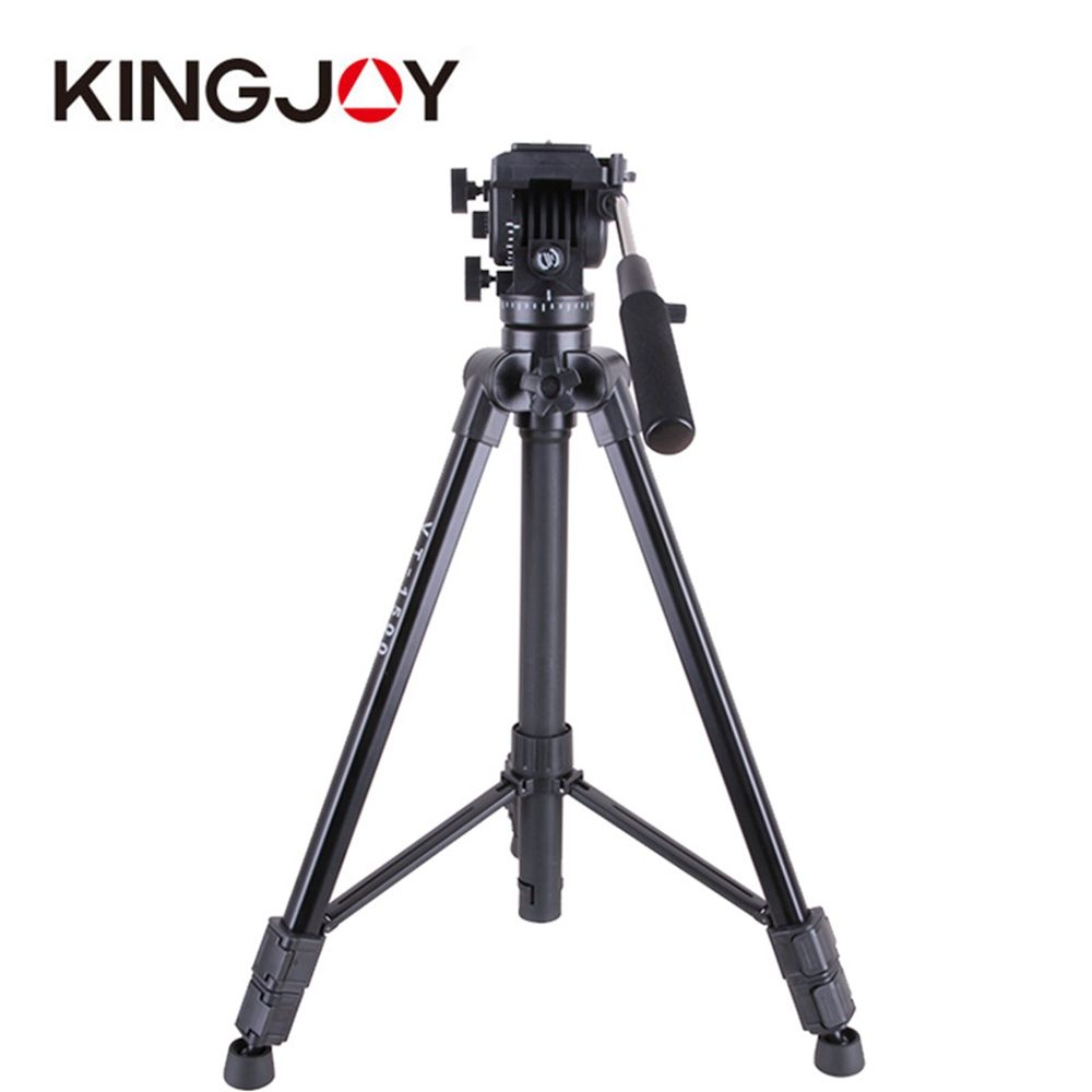 OEM Kingjoy 3 section professional vidoe camera photographic tripod for bird watching