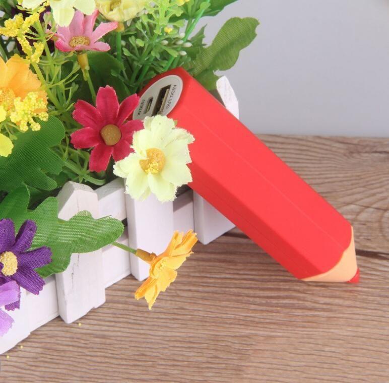 Multi Colors Pencil Style PVC Power Bank