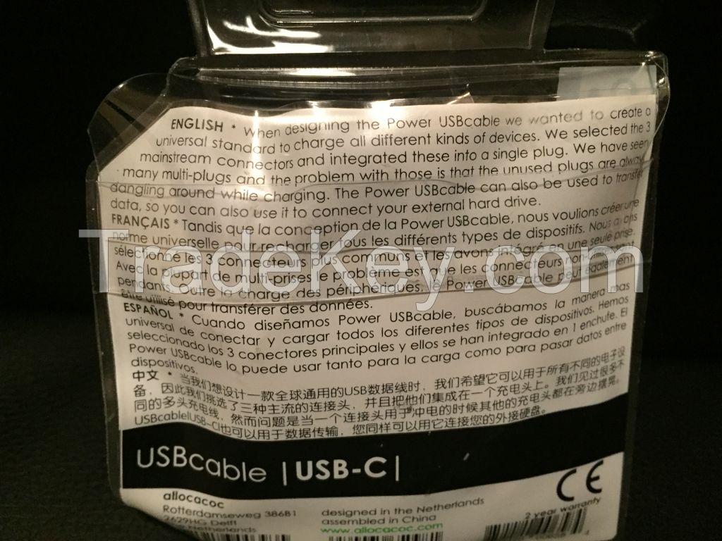 Universal USB Charging Cable(Type-C/Micro USB/Lightning)