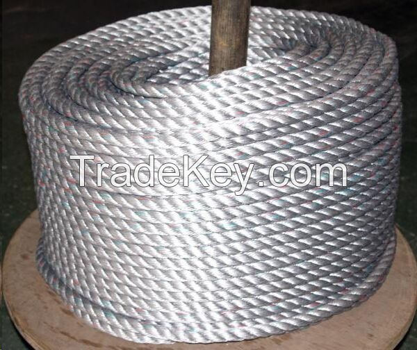 PE Rope 3/4 Strand Twisted Rope for marine rope