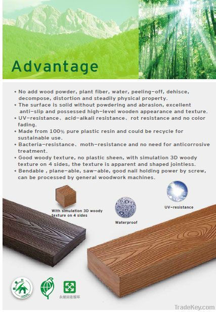 PS Plastic wood from YEAJWU in Taiwan