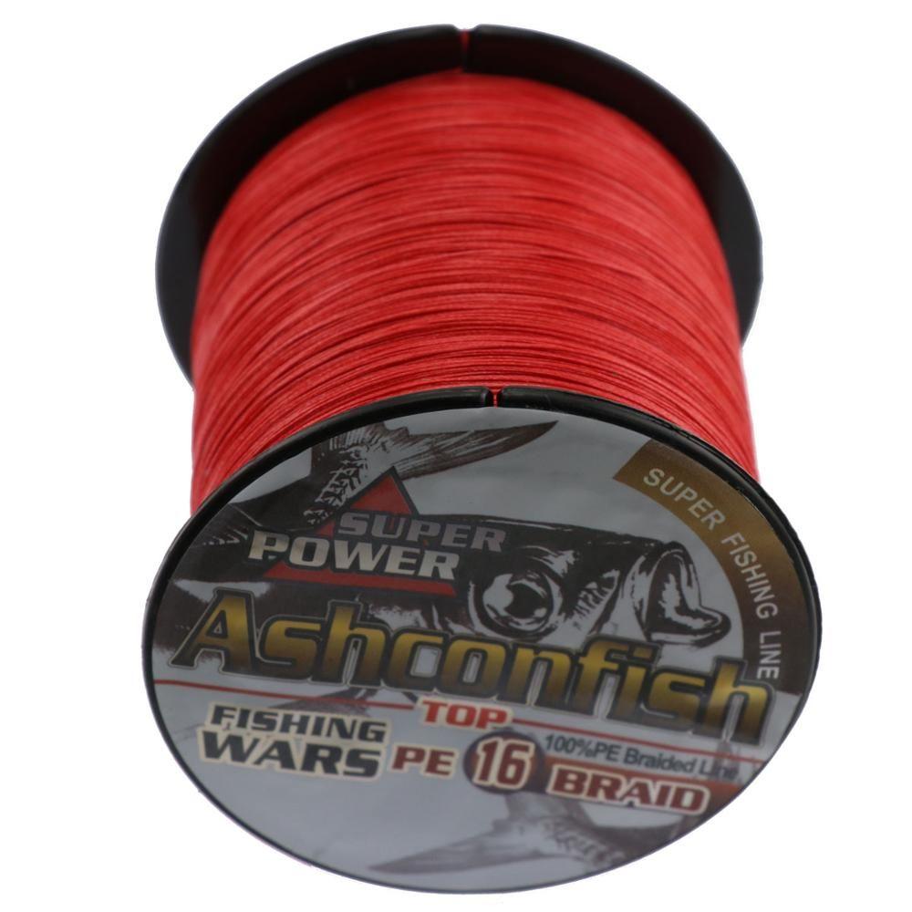 super strength 16 strands 1000 m 0.16mm --2mm 20LB-500LB PE braided fishing line