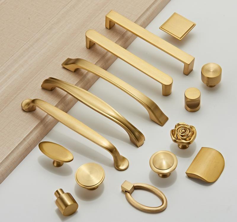 Ancient furniture hardware brass knob copper handle