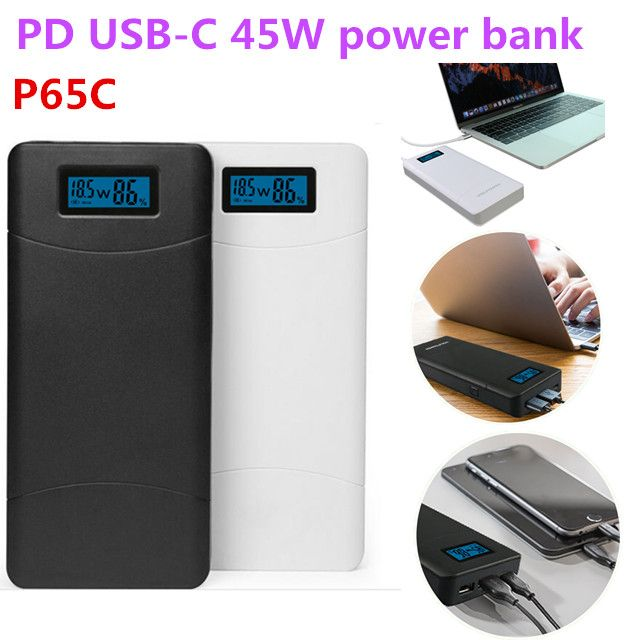 2018 newest portable smart PD power bank, rechargeable batteries for laptops