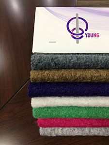 Korean stripe polyester wool fabric Fashion Winter Coat Weft Knit fabric