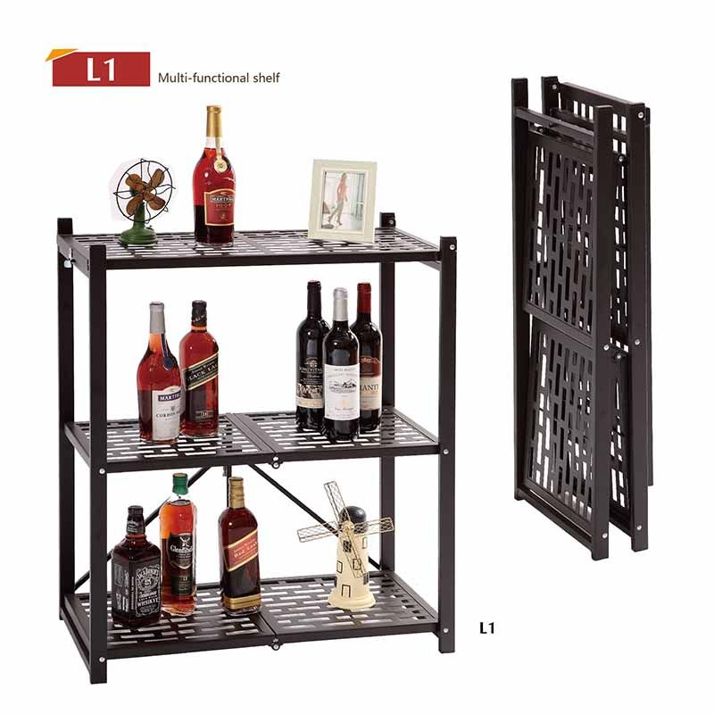 Multi layer folding multi-functional rack, iron shelf, rack