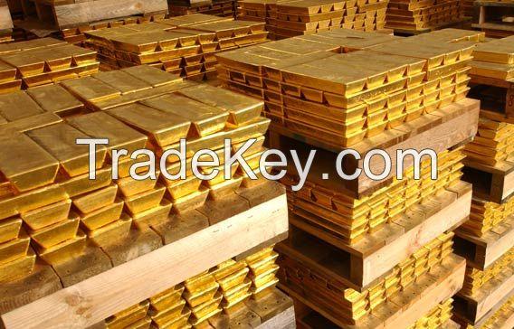 Gold bar, diamonds
