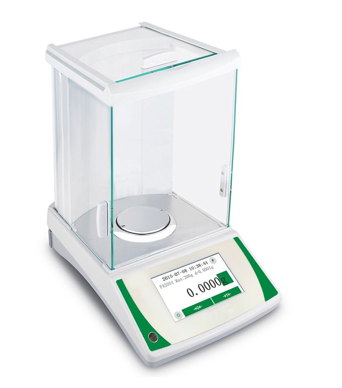 0.1mg magnetic analytical balance with touch screen LCD display auto calibration