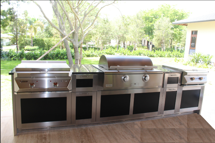 Luxury Outdoor Stainless Steel Kitchen Cabinet with Al honey-comb insert