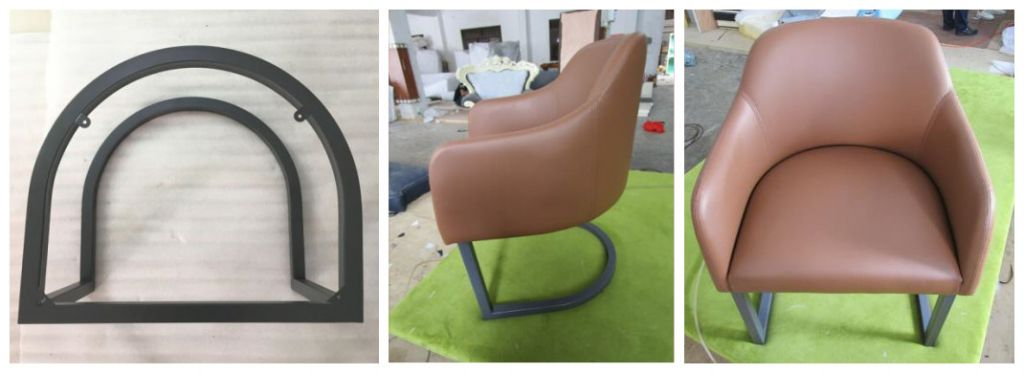Hot sales high quality Metal lounge chair leisure chair relax chair with upholstery for hotel projet hotel furniture