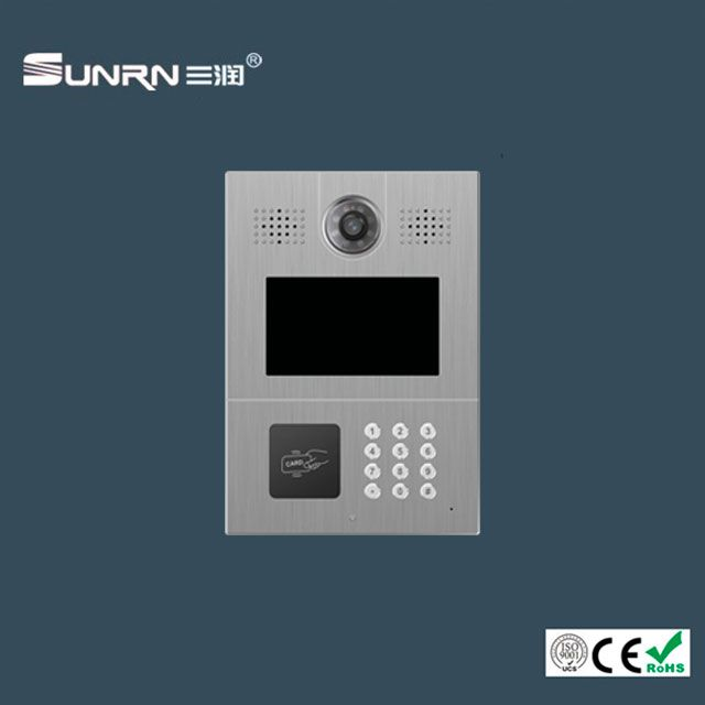 Digital Apartment IP Video Intercom with 8-zone Alarm, Flat to Flat Intercom