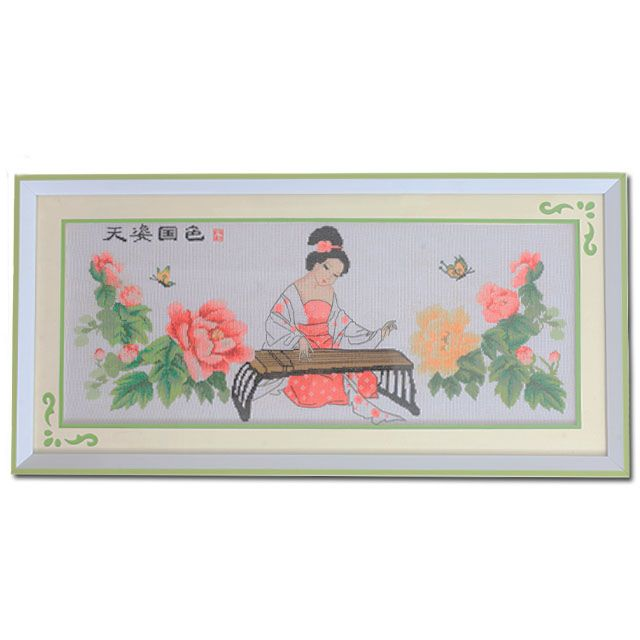 China Ancient Beautiful Girl Cross Stitch ready for home deco