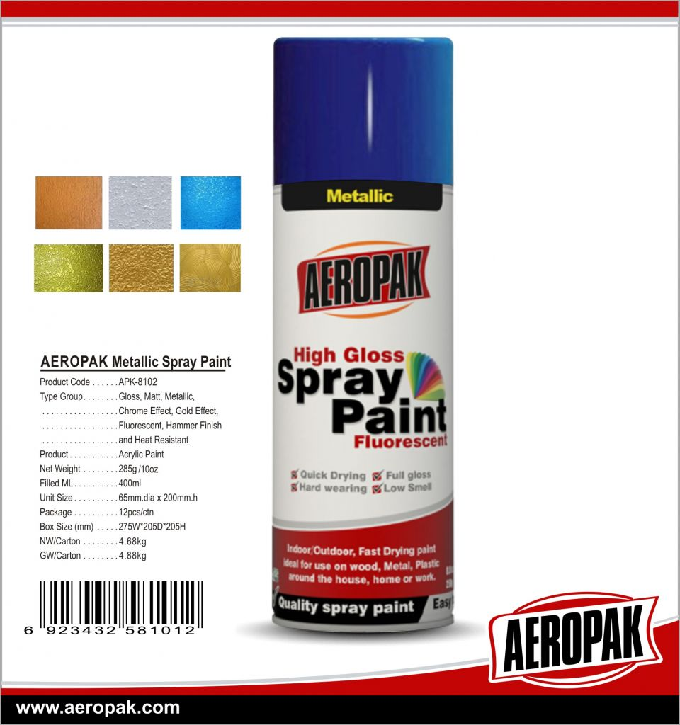 AEROPAK Hot Sales Fast Dry High Gloss All Purpose Spray Paint for Coating