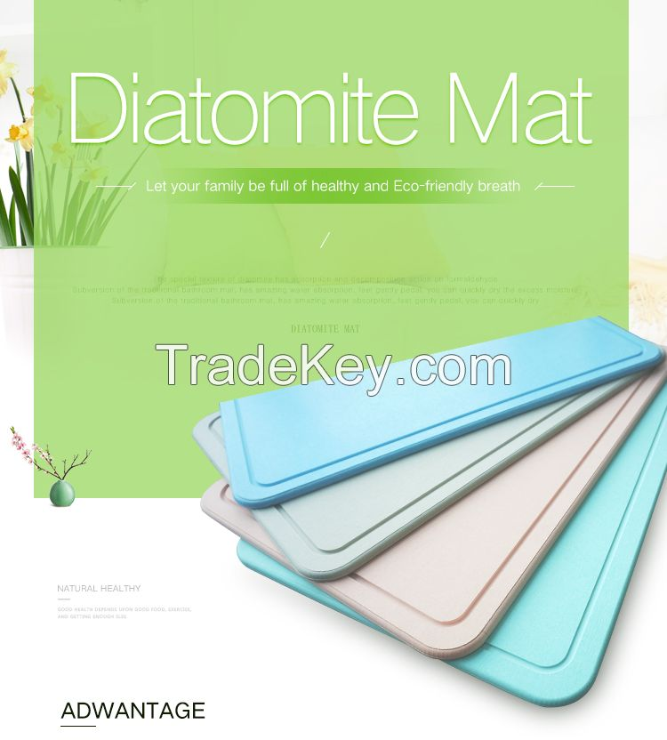 Peakon Eco-Friendly Diatomite Bath Mat Diatomaceous Earth Mat
