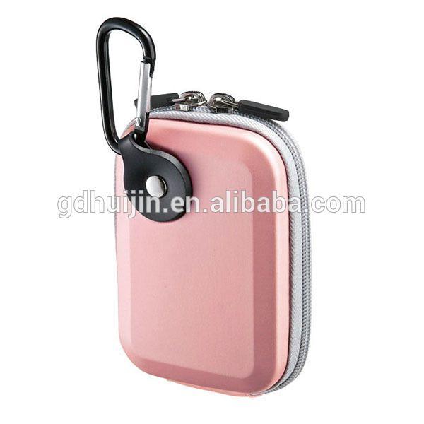 Compact EVA digital camera case with metal hook
