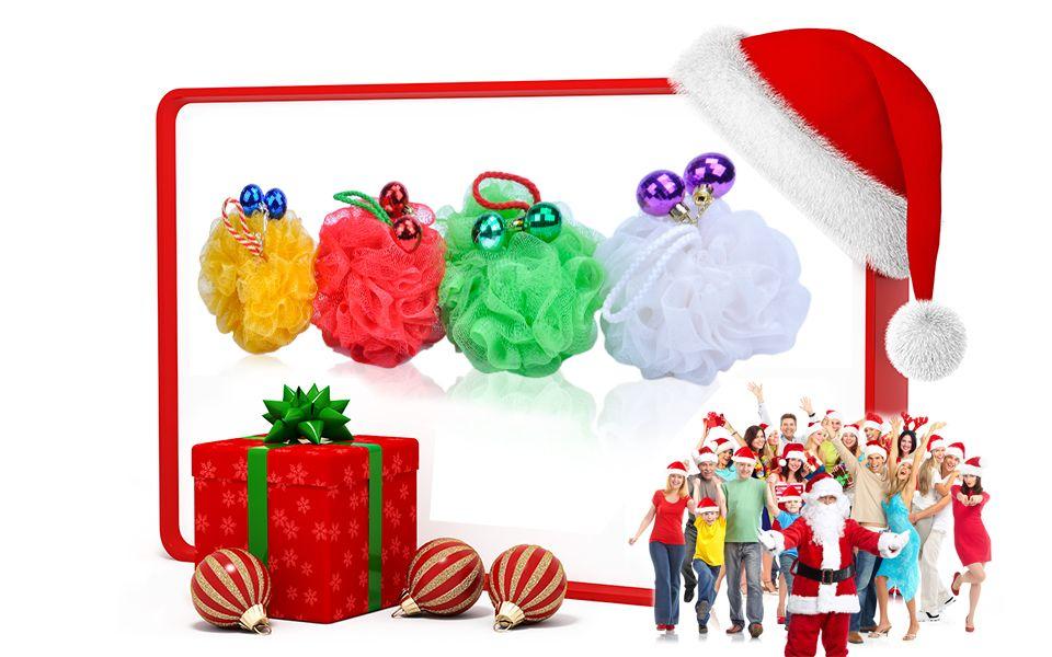 Bath Sponge / Flower Shape Sponge / Christmas Items