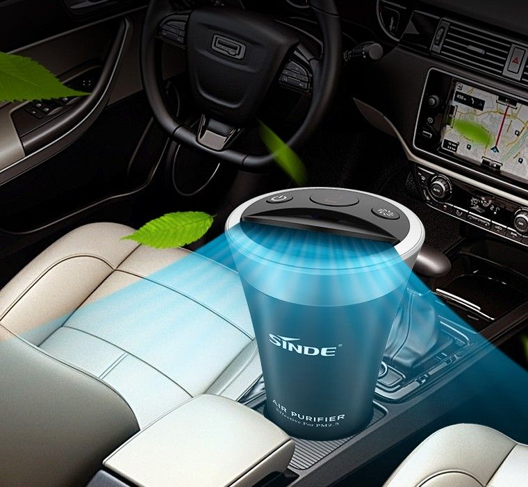 OEM Car Mini Air Purifier with Nano pp air filter absorb second hand smoke and PM2.5 purifiers