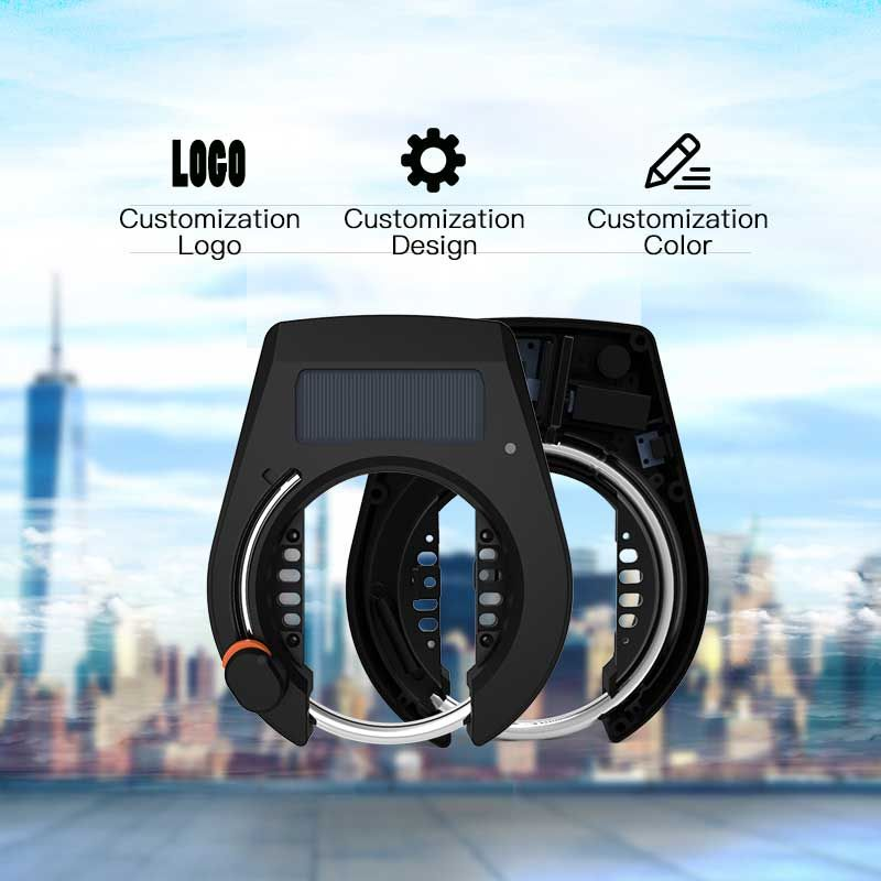 Bluetooth APP Bike Lock Featuring Remote Unlock and USB Rechargeable Battery