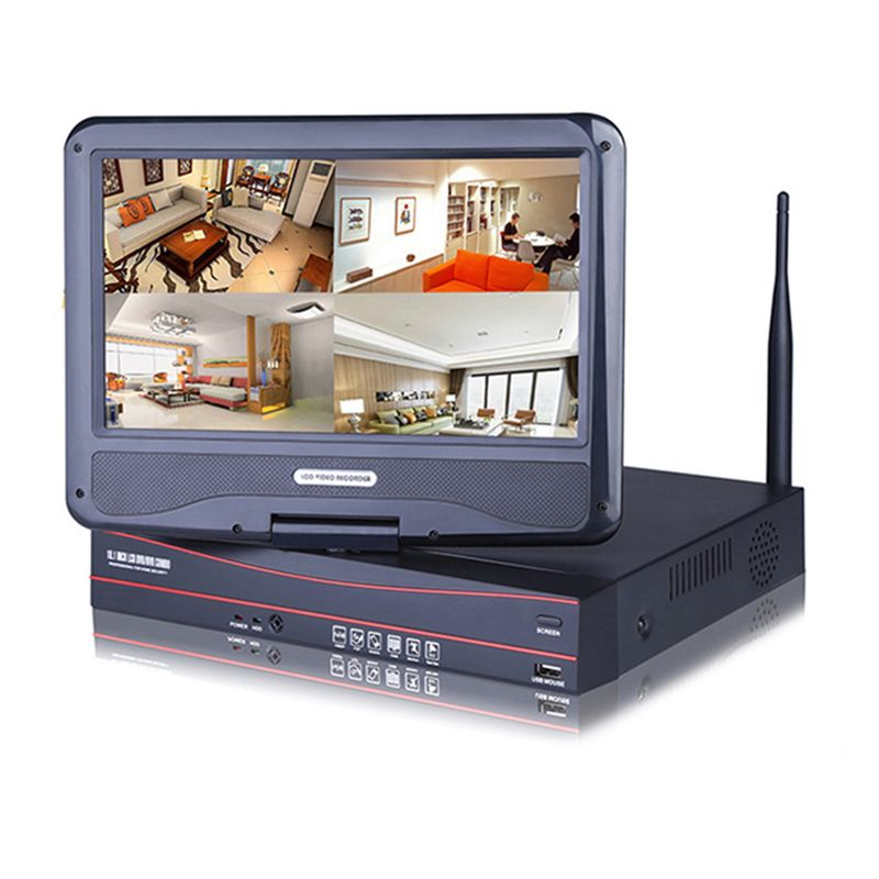 Hot Sale 4chs WiFi NVR Kits CCTV Surveillance System 1.0/2.0MP IP Camera for Home Alarm Security