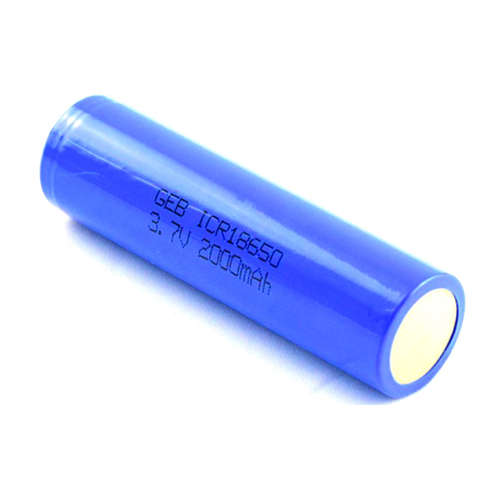 High quality Cylindrical rechargeable li-ion battery 3.7v 2000mah 18650 battery cell